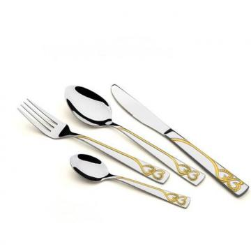 High Quality S/S Flatware/Cutlery set with Gold Plated WHL-CTG014