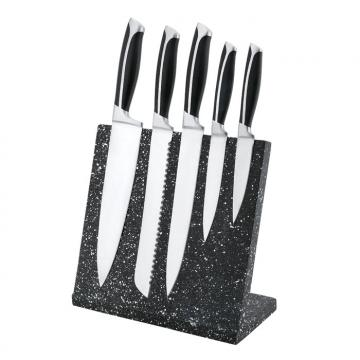 WHL-KFF008  5 pcs Double Forged S/S Kitchen Knife Set with Magnetic Block