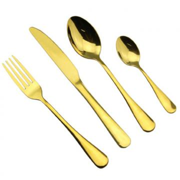High Quality  S/S Flatware/Cutlery set with Gold Plated WHL-CTG007