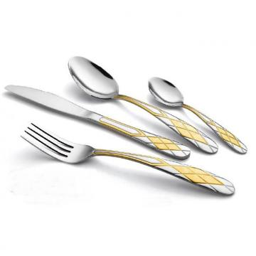 High Quality S/S Flatware/Cutlery set with Gold Plated WHL-CTG039