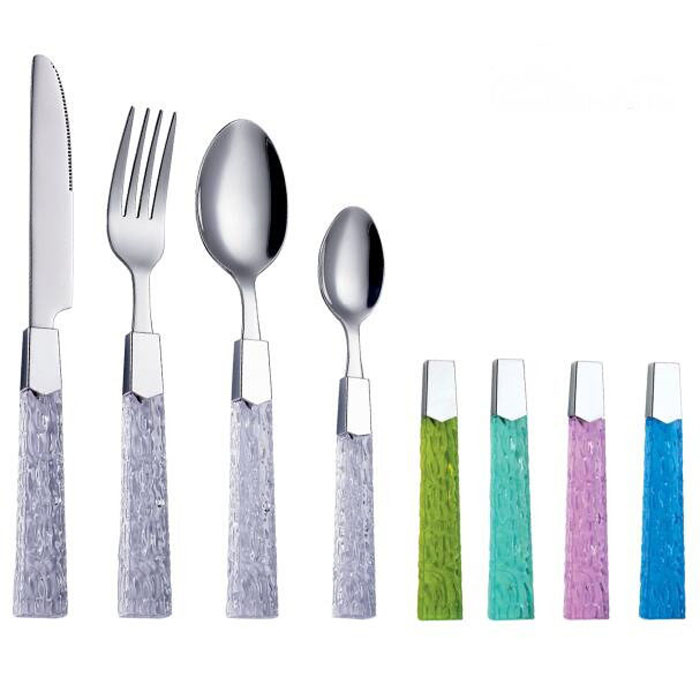SS Cutlery Set With Plastic Handle WHL-CTP115