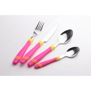 SS Cutlery Set With Plastic Handle WHL-CTP057