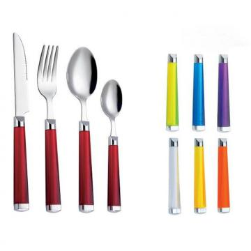SS Cutlery Set With Plastic Handle WHL-CTP104