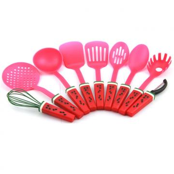WHL-KTN038  9 pcs Melon Shape Handle Silicone Kitchen Tool Set