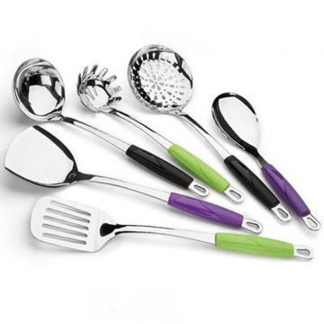 SS Kitchen Cooking Tools With Plastic Handle WHL-KTS017