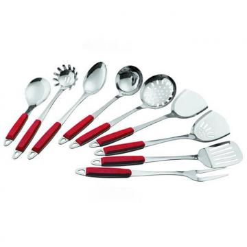 SS Kitchen Cooking Tools With Plastic Handle WHL-KTS028
